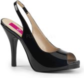 Pleaser Pink Label Hoge hakken -46 Shoes- EVE-04 Zwart