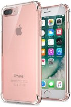 Pearlycase Transparant tpu siliconen case backcover hoesje voor iPhone 8 Plus (verstevigde randen)
