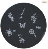 Stamping Plate 038 / nagel stempel- sjabloon