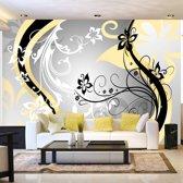 Fotobehang - Art-Bloemen , geel