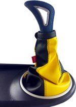 Pookhoes universeel zwart - geel met  kunstleder