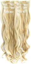 Clip in hairextensions 7 set wavy blond - P24/613