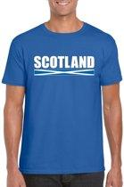 Blauw Schotland supporter t-shirt voor heren - Schotse vlag shirts L