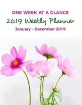 2019 Weekly Planner One Week At-A-Glance January - December 2019 Agenda Organizer