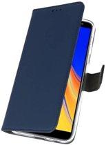 Navy Wallet Cases Hoesje voor Samsung Galaxy J4 Plus