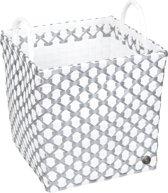 Handed By Brest - Opbergmand - wit met zilver patroon