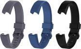 KELERINO. Siliconen bandje voor Fitbit Alta (HR) - Gespsluiting - Grijs / Donkerblauw / Zwart - Large