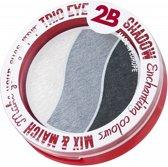 2B-Trio eye shadow Enchanting colours 01 white/grey/antracite