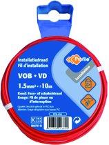 PROFILE installatiedraad VOB (België) VD (Nederland) - 1,5mm² - rood - 10 meter