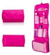 CoshX® reis toilettas, hang roll up toilettas roze, hangende toilettas