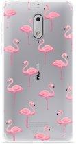 Nokia 6 Hoesje Flamingo