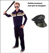 Politie agent mt.128 met pet en knuppel