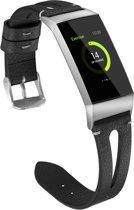 Bandje leer double zwart geschikt voor Fitbit Charge 3 - SmartphoneClip