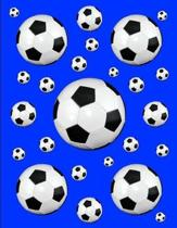 Soccer Notebook Score Keeping Journal Blue 150 College Ruled Pages 8.5 X 11