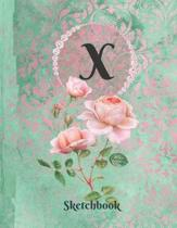 Basics Sketchbook for Drawing - Personalized Monogrammed Letter X