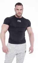 Bodybuilding T-Shirt Compressie Zwart - Fitness Authority
