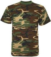 T-shirt camouflage groen/woodland-M