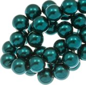 Glasparels (6 mm) Dark Teal (160 Stuks)