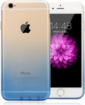 Apple Iphone 6 / 6S Siliconen hoesje Donker blauw/Transparant