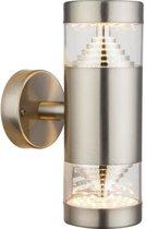Globo Lighting Wandlamp buiten roestvrij staal - Doorzichtig plastic - IP44