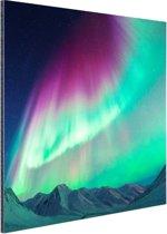 Fraai noorderlicht Aluminium 90x60 cm - Foto print op Aluminium (metaal wanddecoratie)