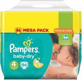 Pampers Baby-Dry Luiers - Maat 4 - 9 tot 14kg -86 stuks