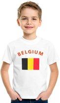 Kinder t-shirt vlag Belgium S (122-128)