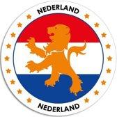 Nederland sticker rond 14,8 cm