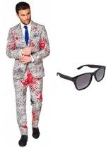 Zombie heren kostuum / pak - maat 50 (L) met gratis zonnebril