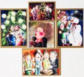Set van 10 luxe FEELGOOD kerstkaarten