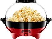 Gadgy Popcorn Machine Rond met anti-aanbaklaag - Stil en Snel - 5 liter - Rood