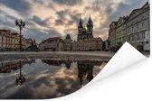 Oude Stadsplein en de kerk in Praag Poster 180x120 cm - Foto print op Poster (wanddecoratie woonkamer / slaapkamer) XXL / Groot formaat!