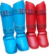 Scheen/wreef-beschermers voor karate Arawaza | rood maat M