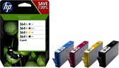 HP 364XL - Inktcartridge / Cyaan / Magenta / Geel / Zwart / Hoge Capaciteit (N9J74AE)