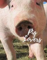Pig Lovers 100 page Journal: Large notebook journal with 3 yearly calendar pages for 2019, 2020 and 2021 Makes an excellent gift idea for birthdays