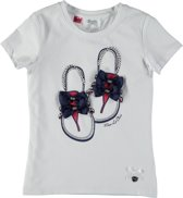 Le Chic T-shirt - white-imperial blue - Maat 152