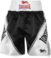 Lonsdale Pro Large Logo Braid & Tassle Trunks Black/White L - Boksbroek