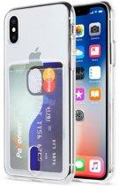 Apple Iphone X / XS Transparant siliconen hoesje met insteek gleuf voor een pasje
