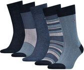 Tommy Hilfiger Men Sock Giftbox 5-Pack - dark navy - Maat 43-46