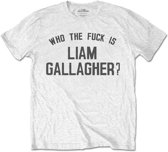 Liam Gallagher Heren Tshirt -XXL- Who The Fuck Is Wit