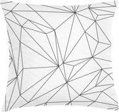 TAK Design Kussen White Geomatric - Katoen - 45 x 45 cm