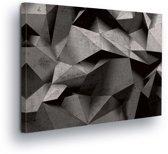 Modern Origami Art Canvas Print 80cm x 60cm