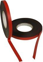Magneetband kleur Rood 15mm op rol 5 meter