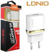 LDNIO AC50 Lader oplader met 1 Meter Micro USB Kabel geschikt voor o.a Samsung Galaxy A6 A7 J6 2018 J4 J6  Plus