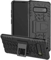 Samsung Galaxy S10 Plus hoesje - Rugged Hybrid Case - zwart