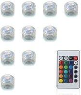 10 LED lampjes met afstandsbediening - Multicolor