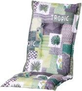 4 stuks! Kussen hoog 50x123 Tropic green