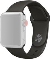 Apple Watch Siliconen Bandje Geschikt voor Apple Watch 1 / 2 / 3 / 4 / 5 - 42MM / 44MM  Zwart / Black  Premium kwaliteit  Single Revet  TrendParts