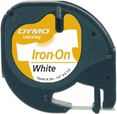Dymo LetraTAG - Iron-on tape / Wit /  Roll (1.2 cm x 2 m)
