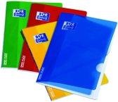 13x Oxford SCHOOL schrift openflex, geassorteerde kleuren, A4, 120 bladzijden, geruit 5mm